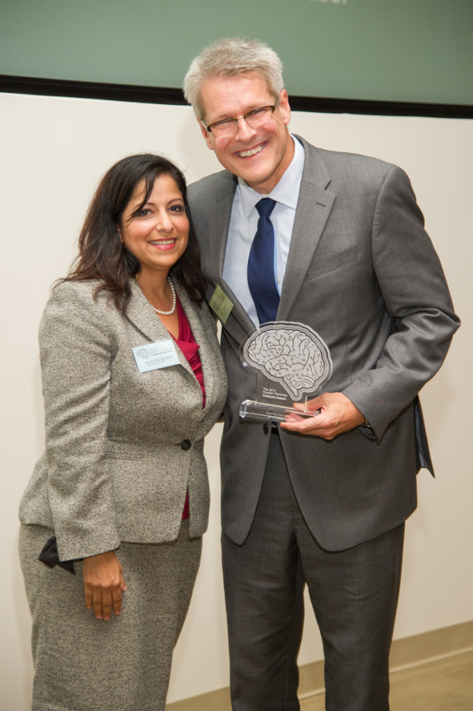 Event Chair Ana Hargrove and Excellence Catalyst Award Winner Jeff Taebel